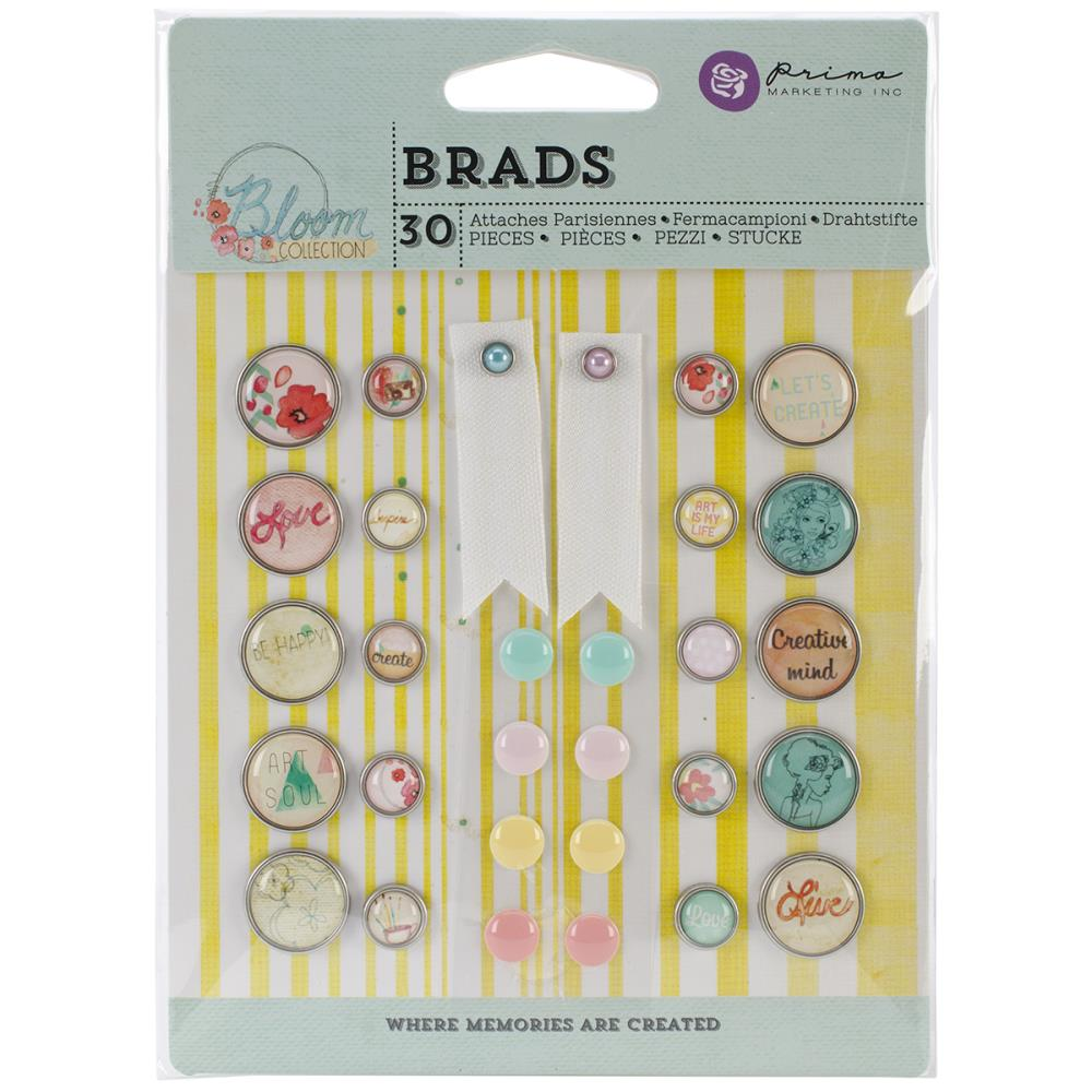 Набор брадсов Bloom Brads, 30 шт от компании Prima