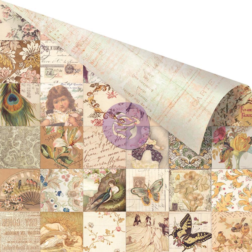 Двусторонняя бумага Collage 30х30 см от компании Prima