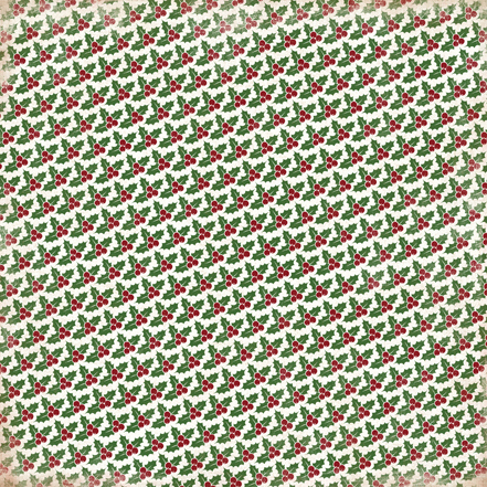 Двусторонняя бумага Christmas Holly 30х30 см от Carta Bella