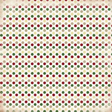 Двусторонняя бумага Christmas Dots 30х30 см от Carta Bella