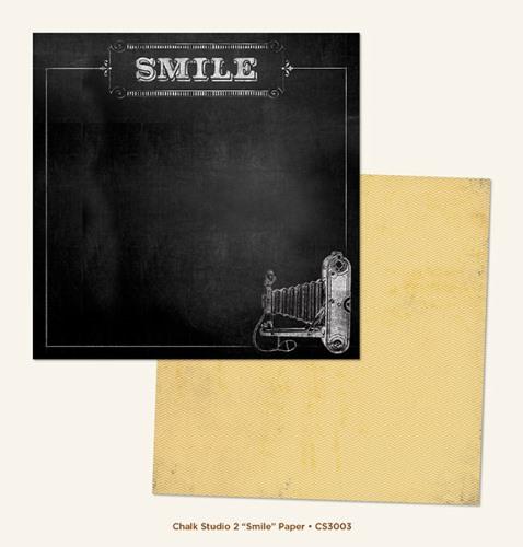 Двусторонняя бумага Smile 30х30 см от My Mind's Eye