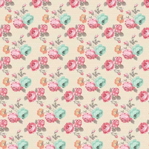 Двусторонняя бумага Flowers 30х30 см от Teresa Collins