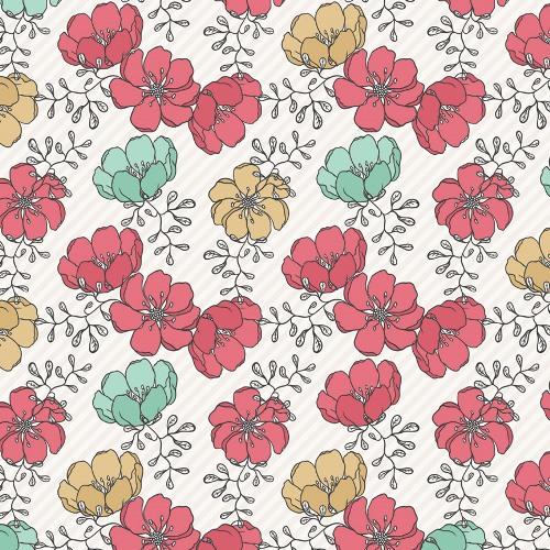 Двусторонняя бумага Floral 30х30 см от Teresa Collins