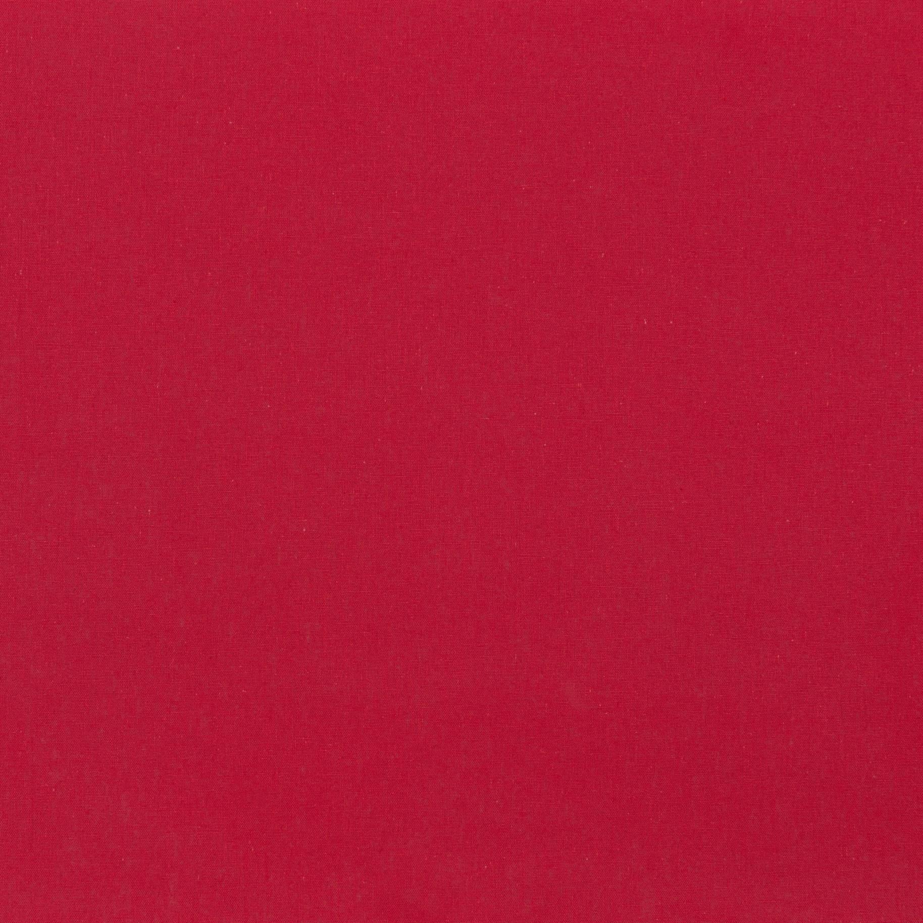 Бязь гладкокрашеная, красная, плотность 120, 50x55, хлопок 100%