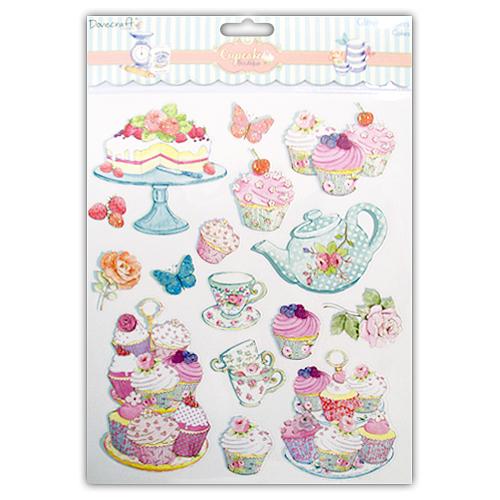 Cupcake Boutique, Cakes, A4, Dovecraft
