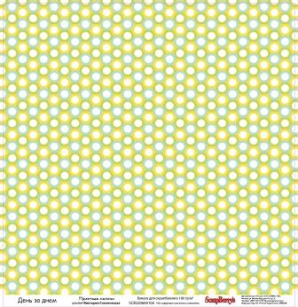 Двусторонняя скрапбумага День за днем Приятные мелочи 30х30 см от Scrapberry's