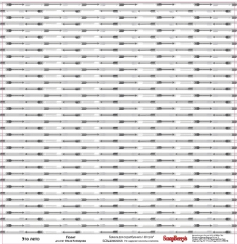 Двусторонняя скрапбумага Полет 30х30 см от Scrapberry's