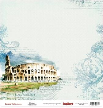 Двусторонняя скрапбумага Колизей 30х30 см от Scrapberry's