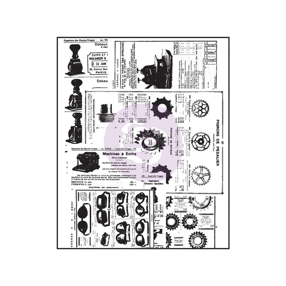 Акриловый штамп Newsprint, 6,3х7,6 см от компании Prima