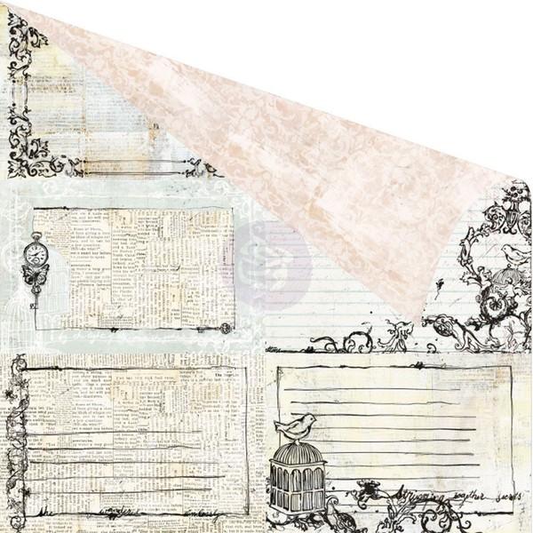 Двусторонняя бумага Words To Live, 30х30 см от компании Prima