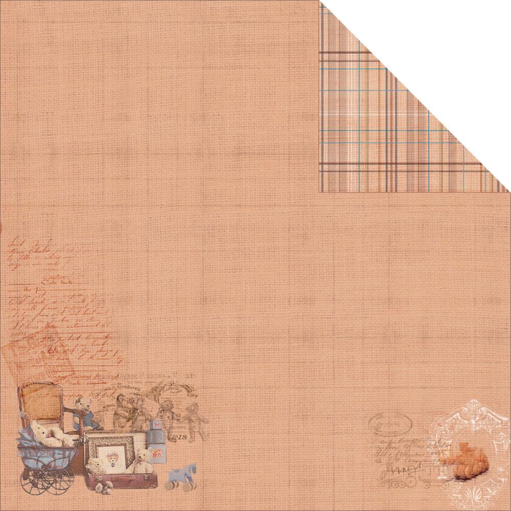 Двусторонняя бумага Rusty Bear 1, 30х30 см от Fabscraps