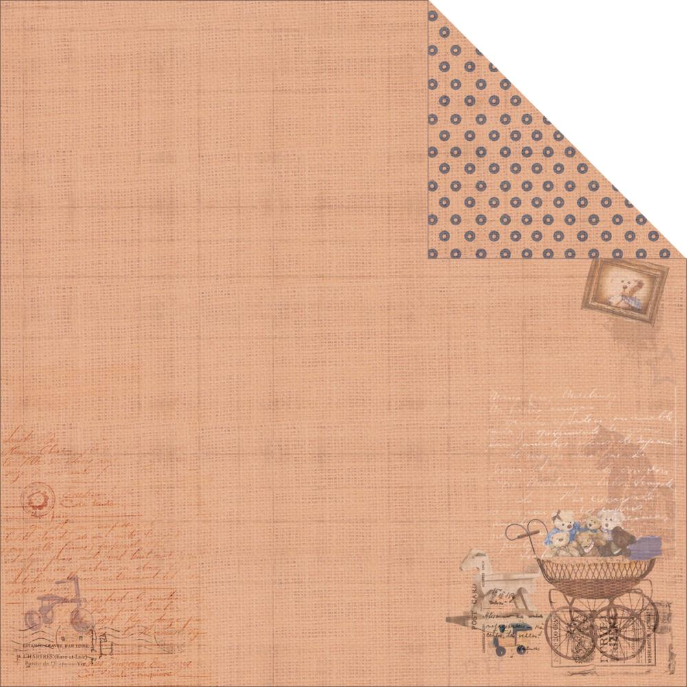 Двусторонняя бумага Rusty Bear 2, 30х30 см от Fabscraps