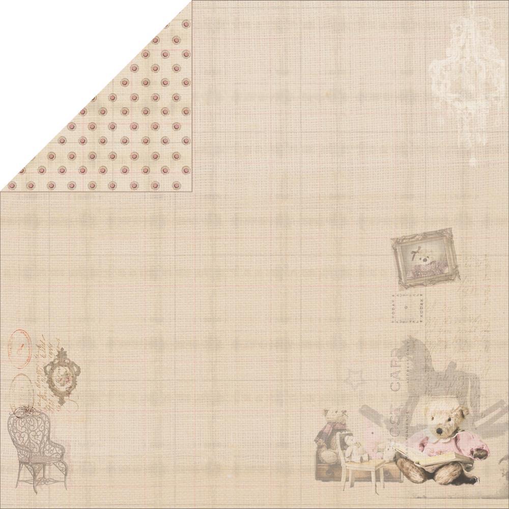 Двусторонняя бумага Story Bear 2, 30х30 см от Fabscraps
