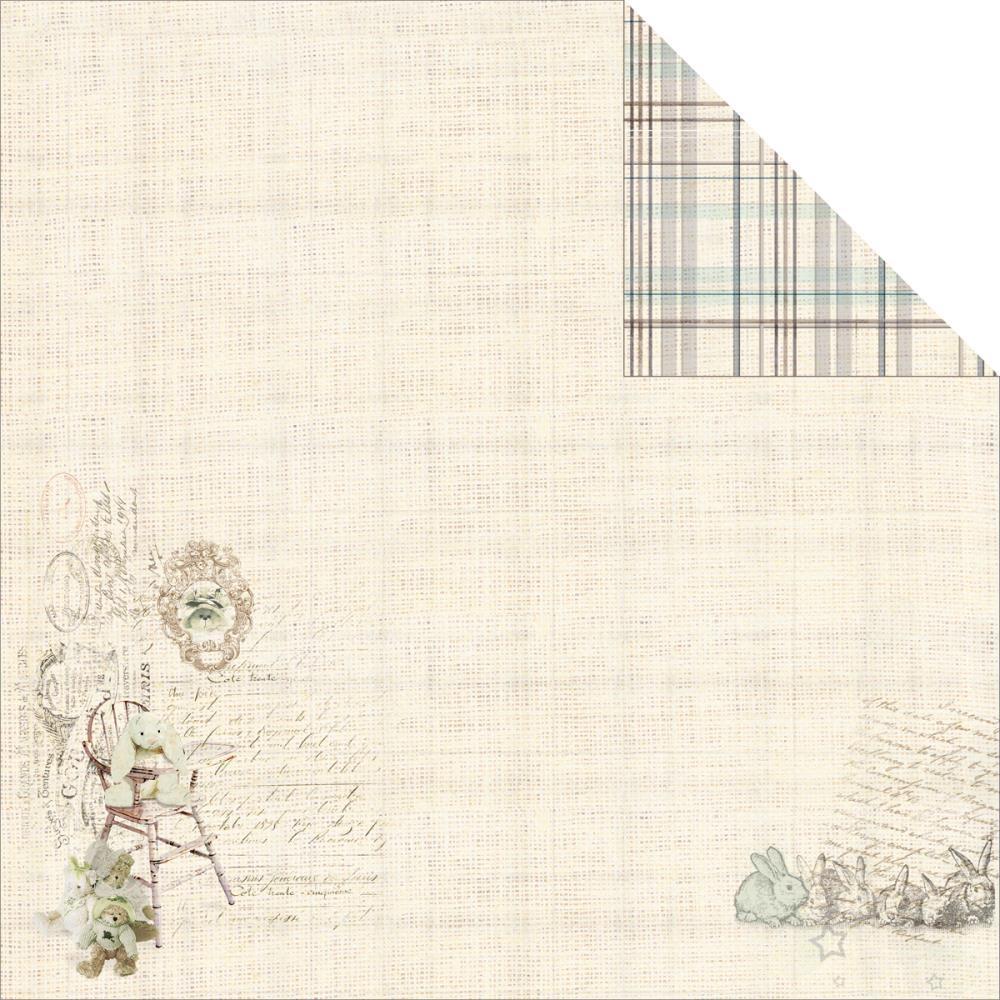 Двусторонняя бумага Bunny Bear 1, 30х30 см от Fabscraps