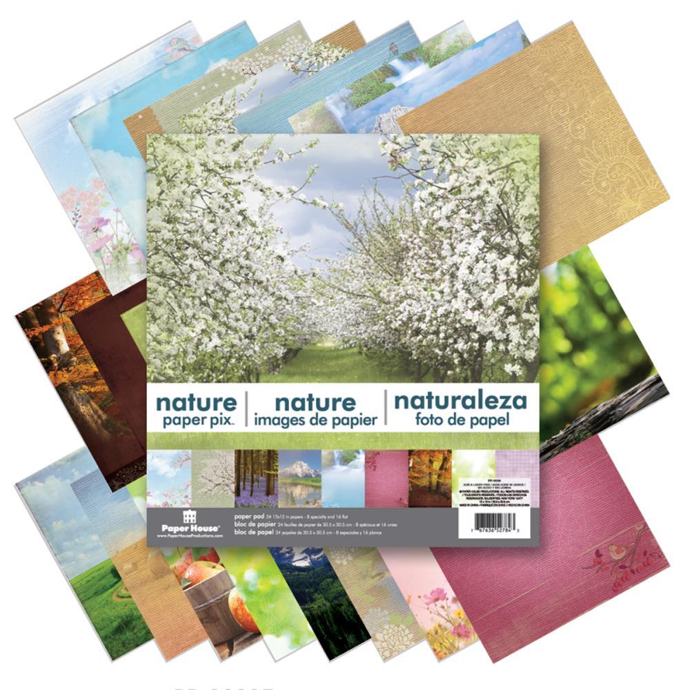 """Набор бумаги """"Nature"""",24 листа, размер 30*30 см от Paper House"""