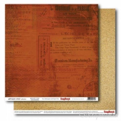 Двусторонняя бумага Древность 30х30 см от ScrapBerry's