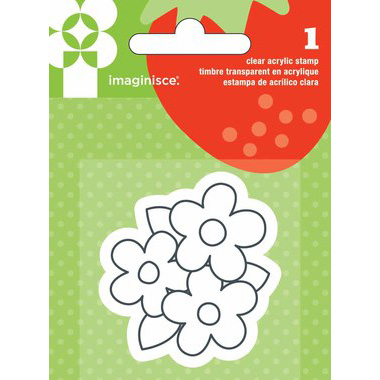 Акриловый штамп Flower от Imaginisce