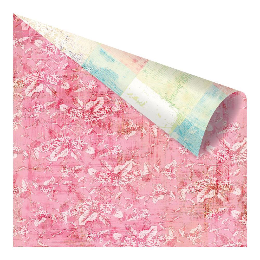 Двусторонняя бумага Blushing Floral, 30х30 см от компании Prima
