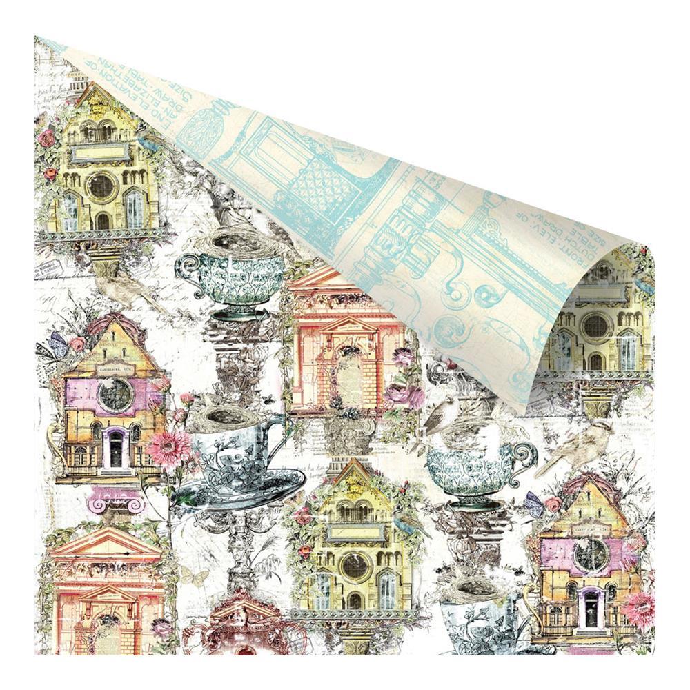 Двусторонняя бумага Birdhouse, 30х30 см от компании Prima