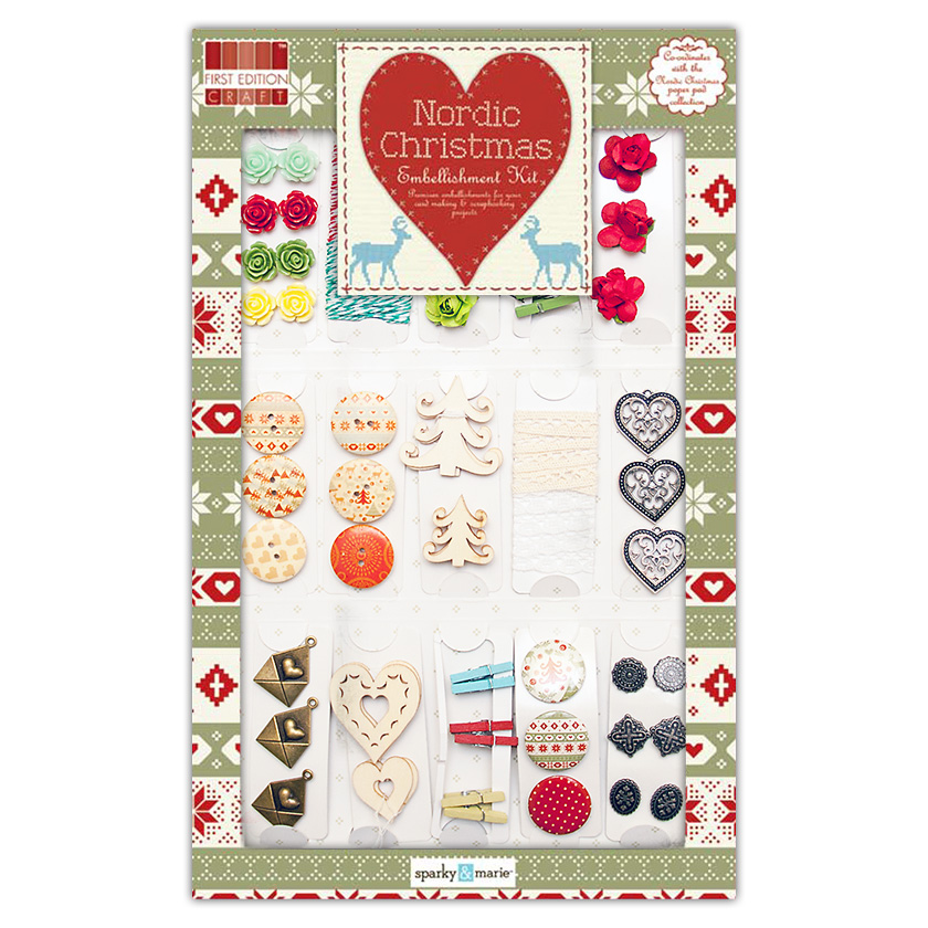 Набор украшений Nordic Christmas Embellishment Kit от First Edition