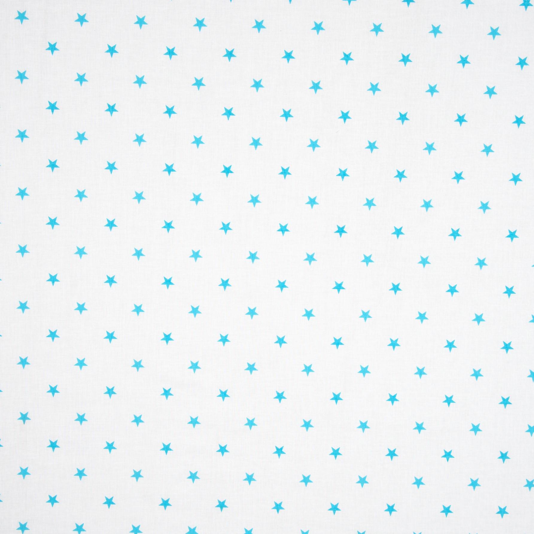 Бязь набивная Голубая звездочка, хлопок, 50х50 см, плотность 125
