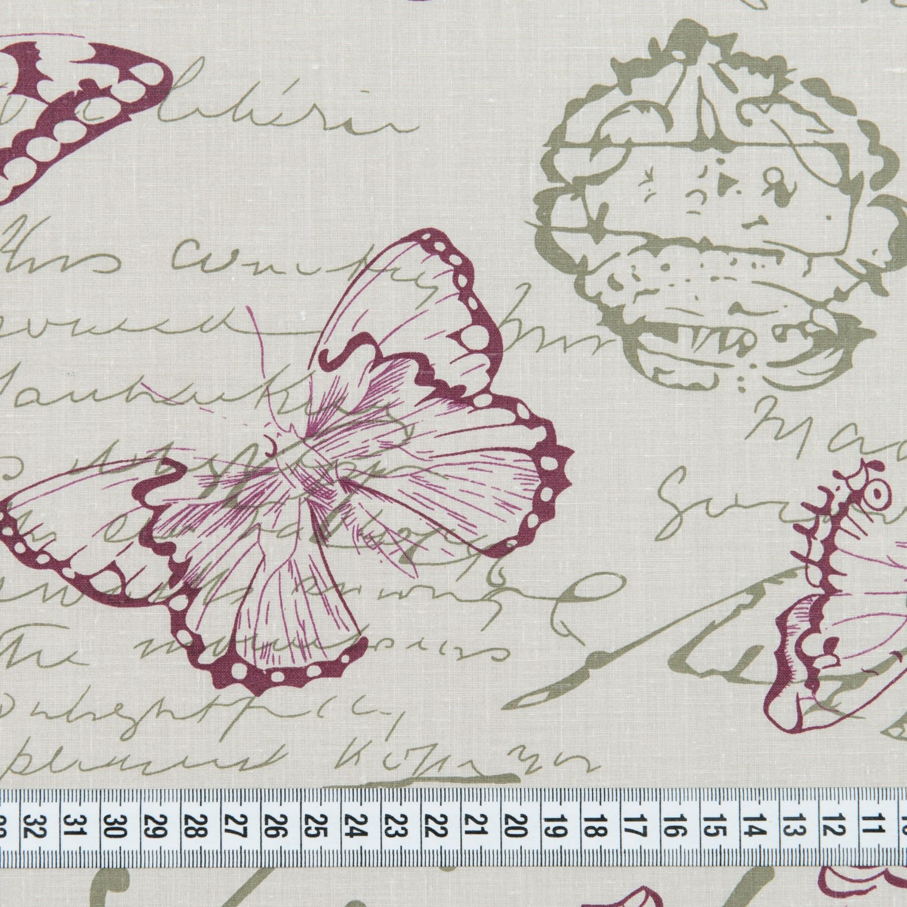 Бязь набивная голд Винтажные бабочки, размер 50х70 см, хлопок 52%, полиэстер 48%, плотность 120