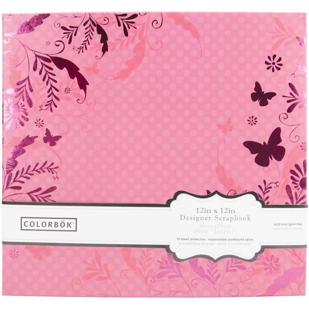 Альбом для скрапбукинга Pink Butterflies 30х30 см от Colorbok