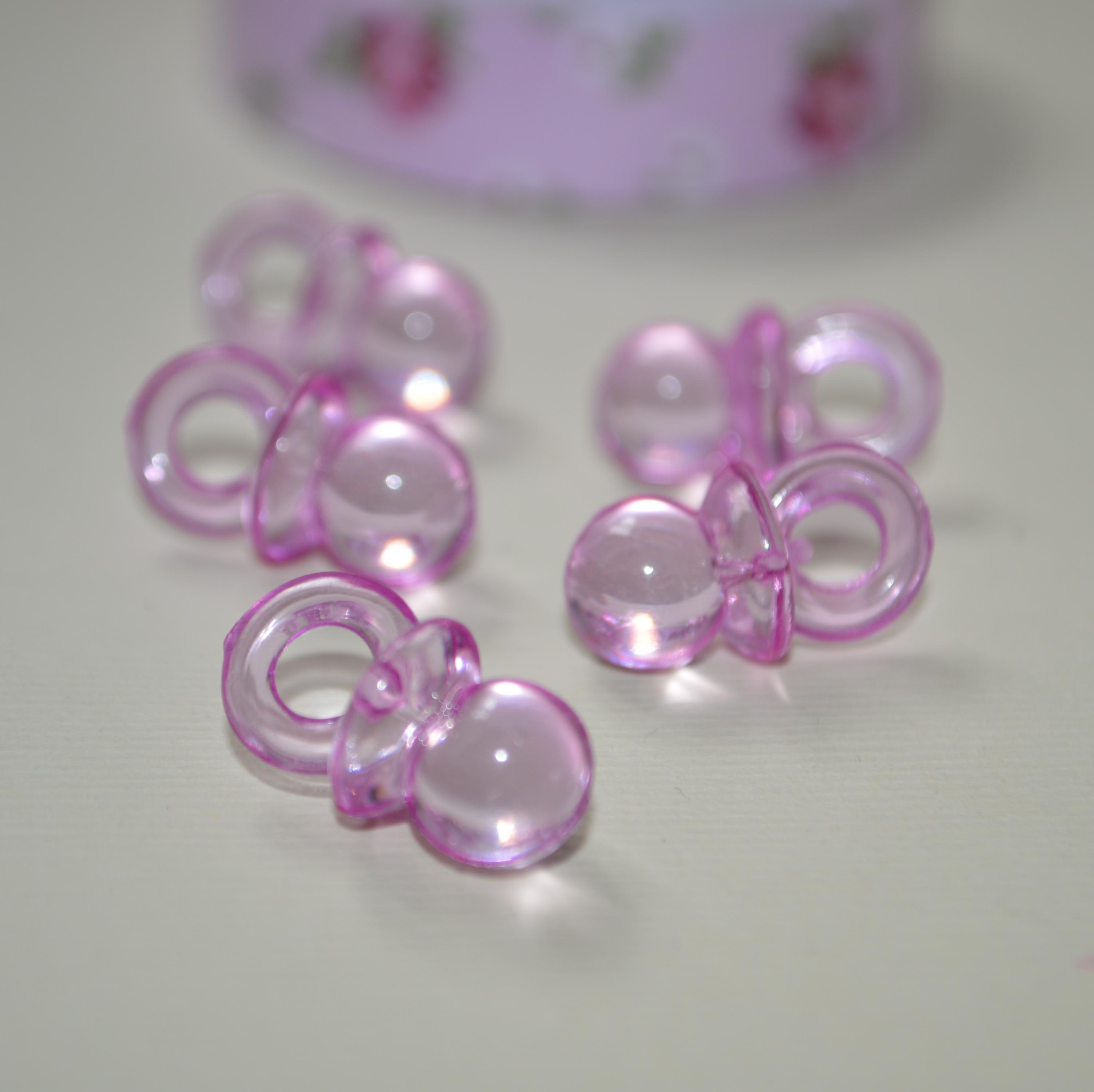 """Акриловая подвеска """"Соска"""" розового цвета, 20х10х10 мм"""