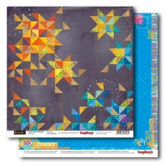 Двусторонняя бумага Фейерверк 30х30 см от ScrapBerry's