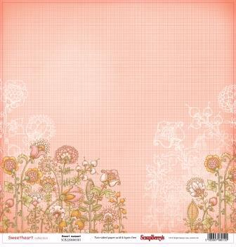 Двусторонняя бумага Мальчик и девочка Радость  30,5х30,5 см от ScrapBerry's
