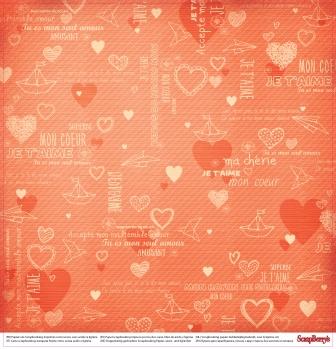 Двусторонняя бумага Мальчик и девочка Детская любовь  30,5х30,5 см от ScrapBerry's