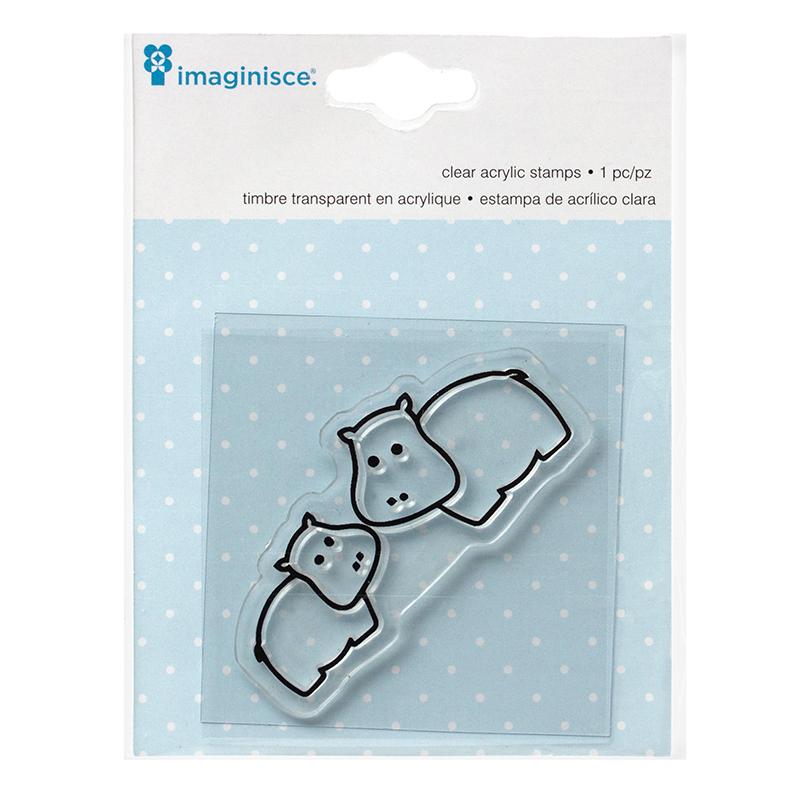 Акриловый штамп  My Baby – Hippo от компании Imaginisce