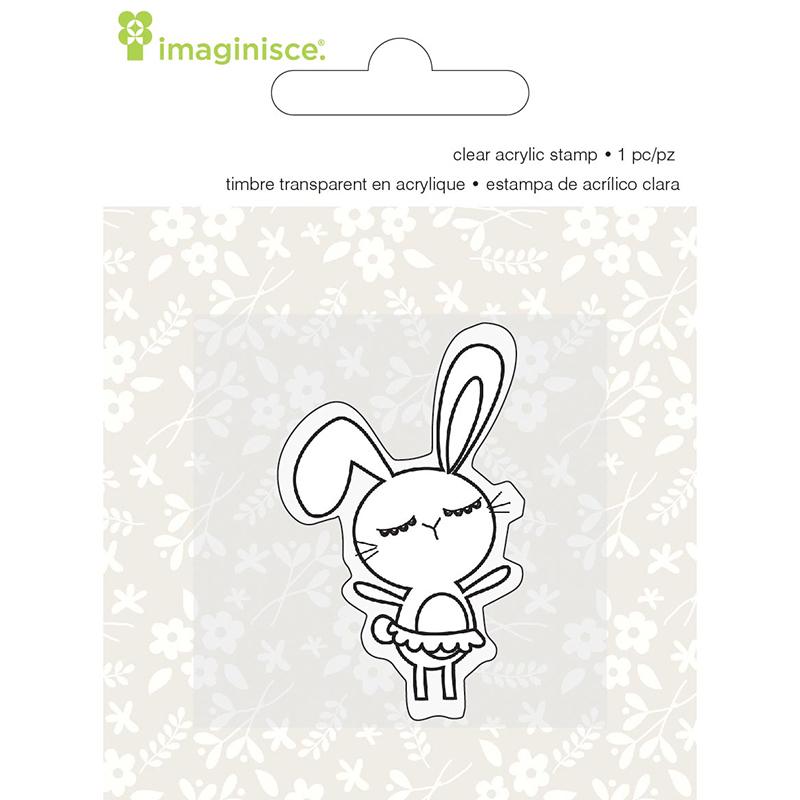 Акриловый штамп  Welcome Spring - Girl от компании Imaginisce