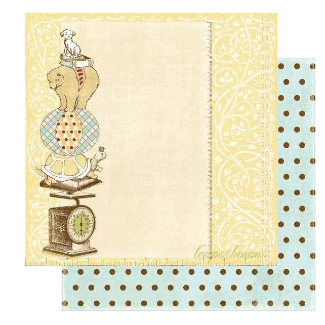 Двусторонняя бумага для скрапбукинга Leaps and Bounds от Webster's Pages
