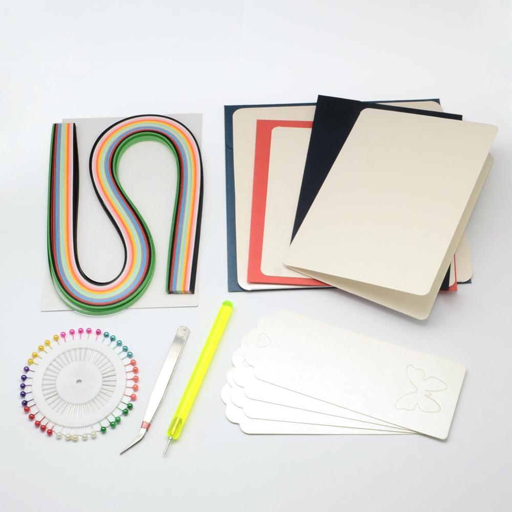 Большой набор инструментов и бумаги для квиллинга