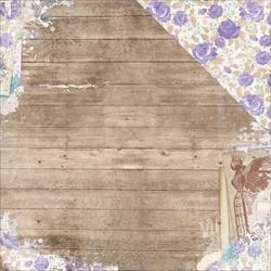 Двусторонняя бумага Woodworks 30х30 см от Bo-Bunny
