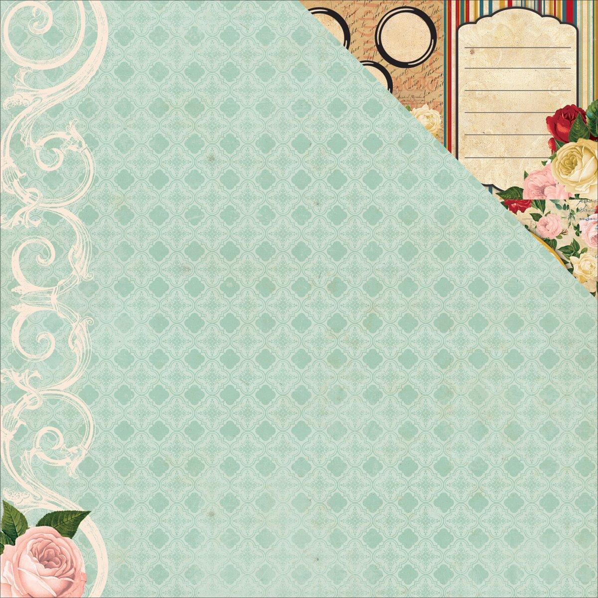 Двусторонняя бумага Prose Juliet 30х30 см от Bo-Bunny