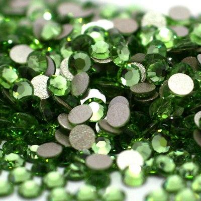 Набор страз зеленого цвета, 4 мм, 20 шт.