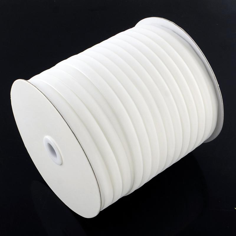 Белая вельветовая лента, ширина 6.5 мм, 90 см