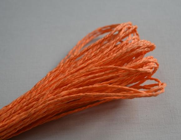 Бумажный шнур однотонный коралловый, 1,5 мм, 1 м