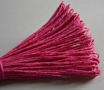 Бумажный шнур однотонный фуксия, 1,5 мм, 1 м