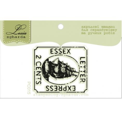 """Акриловый штамп """"Почтовая марка"""", размер 3,1*3,6 см"""