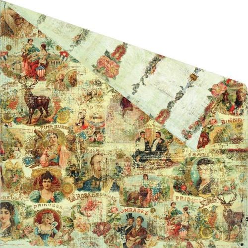 Двусторонняя бумага 30х30 Cigar Box Secrets - Panatela от Prima