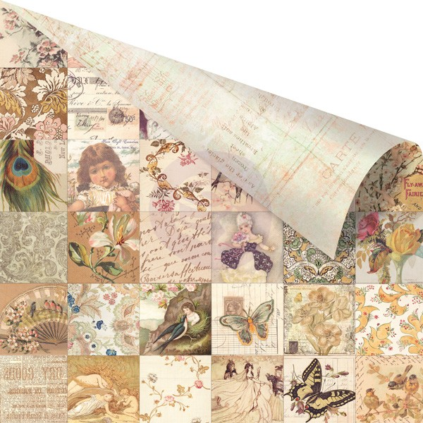 Двусторонняя бумага 30х30 Princess- Collage от Prima