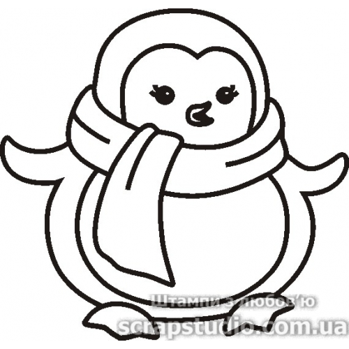 """Акриловый штамп """"Пингвин"""", размер 4,1*3,9 см от ScrapStudio"""
