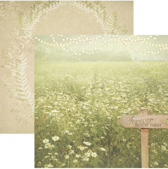 Двусторонняя бумага Forever Begins Today, размер 30*30, 1 шт от Paper House