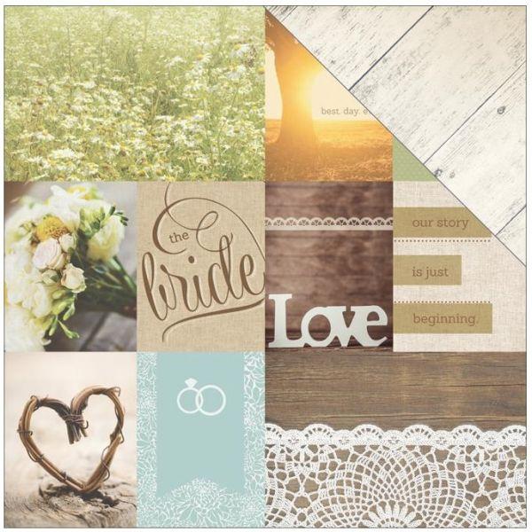 Двусторонняя бумага Wedding Day Tags, размер 30*30, 1 шт от Paper House