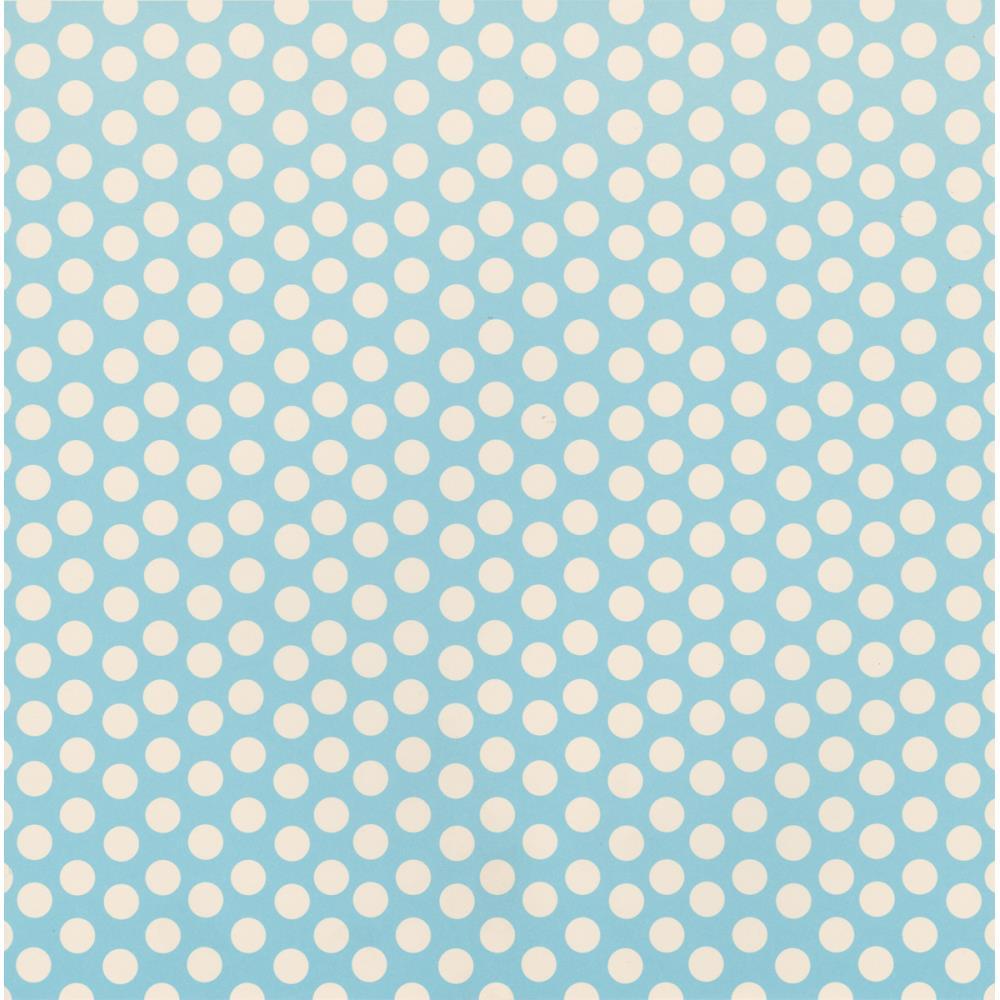 Бумага Baby Blue & Ivory Dot Reverse, 30*30 см от Canvas Corp