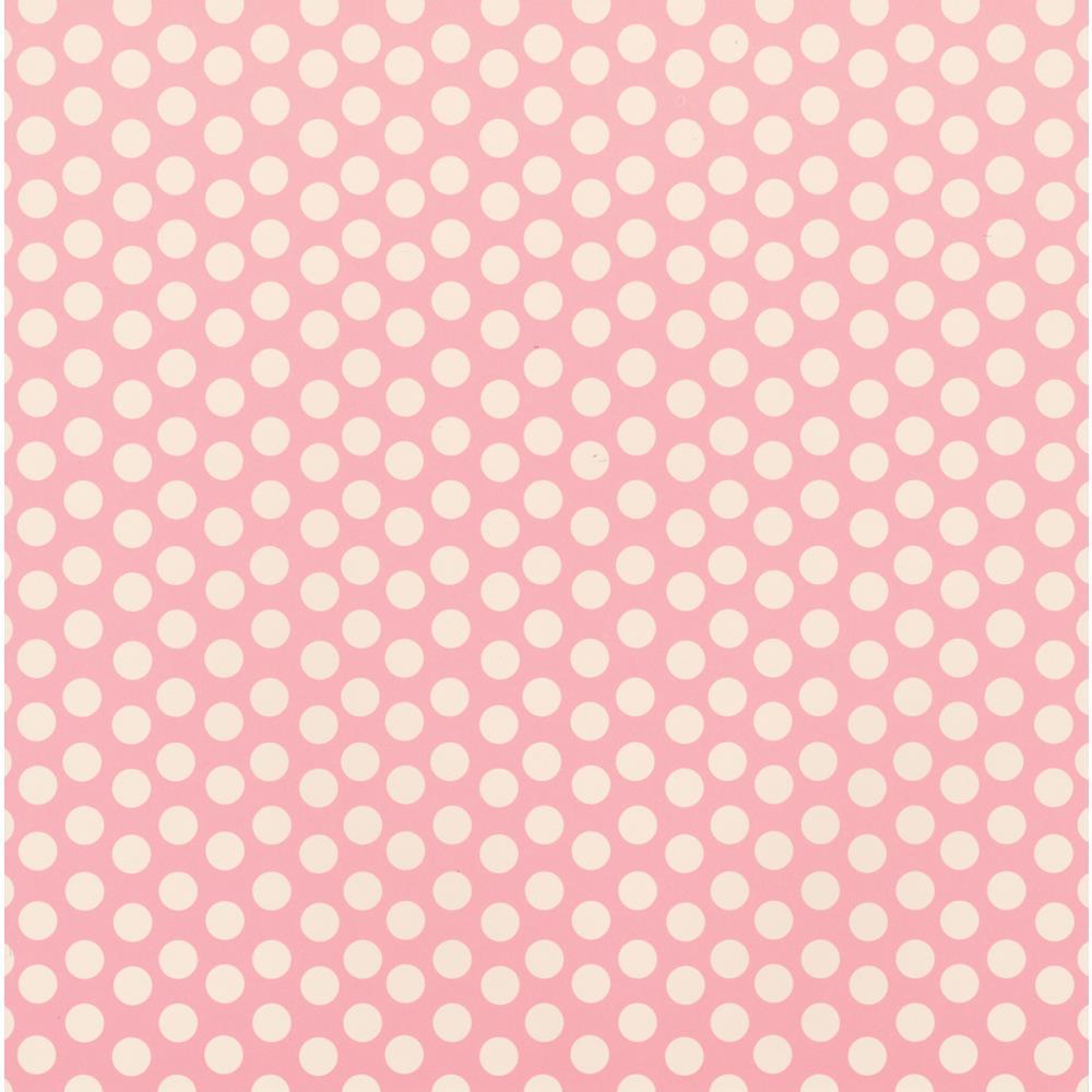 Бумага Baby Pink & Ivory Dot Reverse, 30*30 см от Canvas Corp