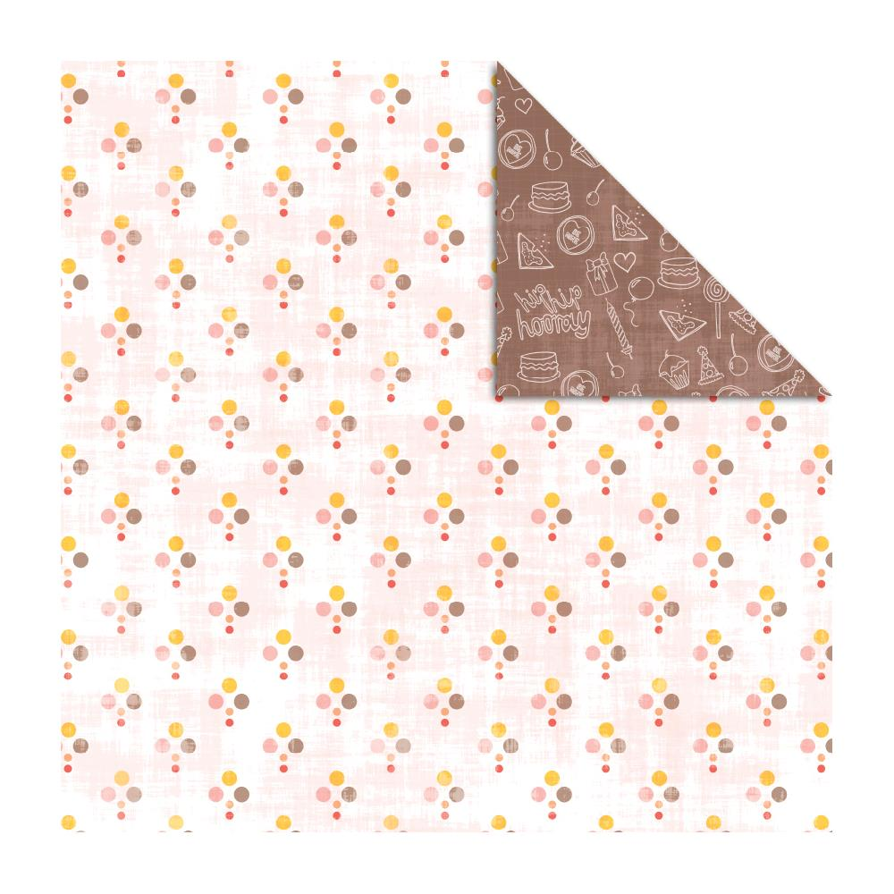 Двусторонняя бумага Chocolate Drops,Sugar Sugar, 30х30 от Kaisercraft